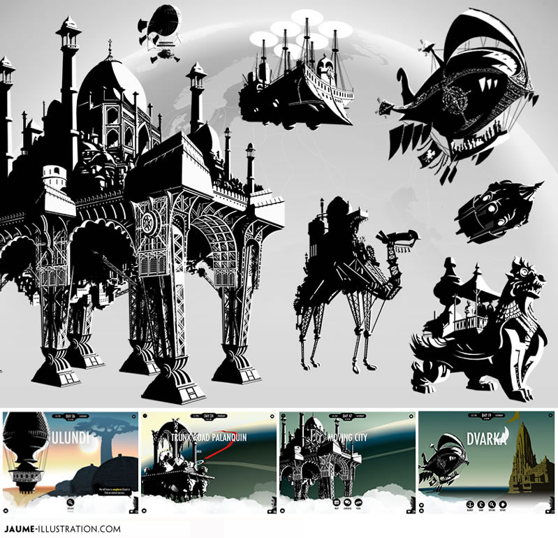 illustration rich media photoshop ink games
